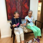 Flo and Esther are enjoying and concentrating on the moment while having fun - how fun!