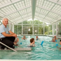 An Indoor Pool With Classes