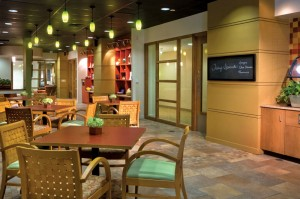 The Gallery Café features gourmet sandwiches, soups, salads and beverages.