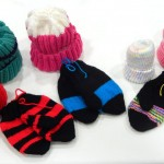 Many hats and mittens were knitted by the independent living residents at The Watermark at 3030 Park.