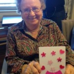 Olga is very proud of her card making creation!