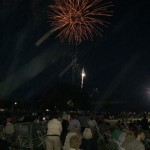 The evening ended with a beautiful fireworks display!