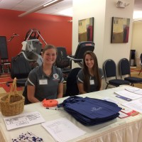 SHU Health Fair 2017 reception table