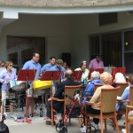 Silver Steel Band playing.
