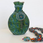 Barbara McGill, Beaded Bottle and Necklace
