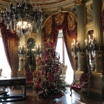 One of the many rooms in the Breakers decorated for the holidays.
