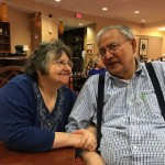 One of our loving couples in the town center (independent living) at the Watermark at 3030 Park celebrating a birthday.