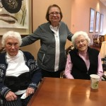 The Watermark at 3030 Park residents celebrating their birthdays in the town center (independent living).