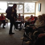 Residents danced and sang in their seats to Motown music with our entertainer MoJo