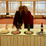 Cindy Dungey and Denise Rozelle of Sales & Marketing pose with the Chocolate and Wine Pairings
