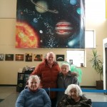 Residents learning about the planets
