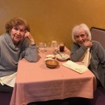 Liz & Muriel, residents of The Watermark at 3030 Park, patiently await dinner!