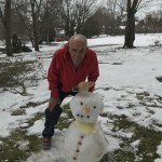 Independent living Resident Richard Fiocca with our newest neighbor!
