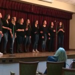 The all female acapella group, Sweet Harmony, sang five songs in 4 part harmony, such as
