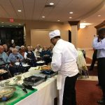 Residents enjoying the presentation, and soon will have a taste! Only at The Watermark at 3030 Park