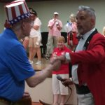 Frank Byrnes, our honorary Ringmaster, was congratulated by the Ringmaster.
