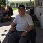 Constantine, a resident in The Town Center, enjoyed being outside and the company at The Watermark at 3030 Park