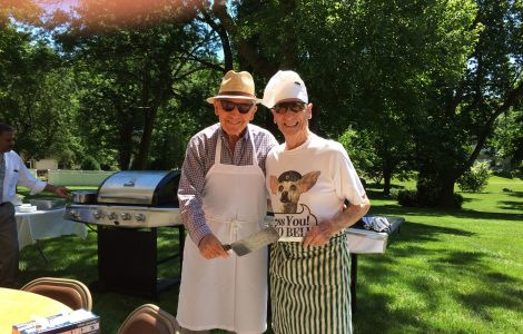 Independent Living Men's Group Cookout Fun at The Watermark at 3030 Park