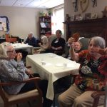 More residents in the Memory Care neighborhood at The Watermark at 3030 Park enjoying the cookies! (We caught them with their mouths full.)