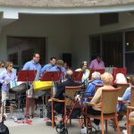 Silver Steel Drum Band sends good vibration to the residents at The Watermark at 3030 Park.
