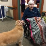 Lee loving Sadie - Pet Therapy working wonders throughout The Watermark 3030!!