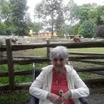 Inn community resident at The Watermark at 3030 Park having a wonderful time exploring the Stamford Nature Center.