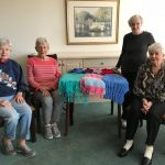 Here are a few of the independent living residents at The Watermark at 3030 Park knitting group.