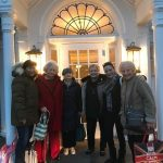 A happy, relaxed and rejuvinated group stops outside the Norwich Spa for a photo...What a great day!