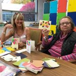 Community Life Assistant, Kayti shares her creative talents with Watermark at 3030 Park Independent Living resident, Elaine to create thoughtful greeting cards to send out to other residents in the Watermark at 3030 Park Springs community.
