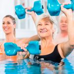 Aqua Zumba and Splash Fitness are the favorite pool classes offered at The Watermark at 3030 Park in the Vitality Fitness Center.