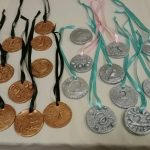 Olympic Medals created by the wonderful students from the Build On Program at Central High School!
