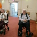 Our Residents form the Gardens & Inn neighborhood enjoying the Olympic games with Build On Students!