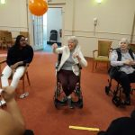 Our Residents enjoying the volley ball game with Build On Students