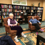 Independent Living residents Josi & Marilyn lead the conversation