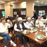 Superbowl Sunday Party enjoyed by all who attended in the independent living neighborhood at The Watermark at 3030 Park.
