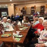 Another group of residents at the Superbowl Party.  They had a great time in the W Lounge, the bar area in the independent living neighborhood, at The Watermark at 3030 Park.