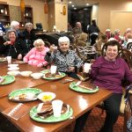 Cheers from residents enjoying the Superbowl Sunday Party in the W Lounge at The Watermark at 3030 Park.