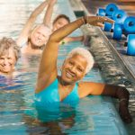 We offer a number of pool classes such as Splash Fitness on a weekly basis at The Watermark at 3030 Park in the Town Center's Fitness Center, Vitality, for all of the residents.