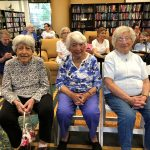 These fine ladies sang many of the songs that were played by the piano player at The Watermark at 3030 Park independent living.